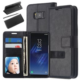 Wholesale Hot Selling Classical Flip Smart Cover for Samsung S8 S8 Plus PU Leather Dirt Resistant Wallet Phone Cover