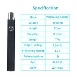 Wholesale Absolute Xtracts Variable Volt PREHEAT Open Vape Battery Color Changing SLVER Black Thick Oils FREE SHIP