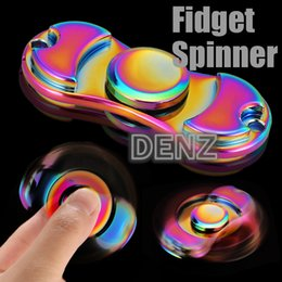 2017 Hot Toy EDC Hand Spinner Finger Toys For Fidget Spinner Colorful Metal Gyro Decompression Anxiety Toys For Killing Time With Package