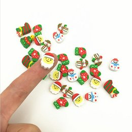 Wholesale Christmas Gift Santa Tree Mini Eraser Kawaii Designer Students Stationery School Supplies Papelaria Gift For Kids