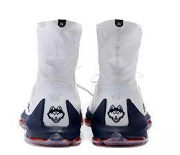 Kds blanc à vendre-Kevin Durant KD8 Elite Low Home Blanc Bleu Kds OKC Baskets Baskets Chaussures de course à pied KD 8 Playoff Men Shoes