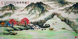 Wholesale Mordern Chinese traditional ink Painting master hand Authentic corner of Beautiful mountains and river hall living room bed room decoration