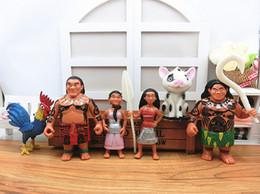 Wholesale Moana Princess Maui Hei Pua Cartoon Movie PVC Action Figures Moana Adventure Ornaments Doll Toy Christmas Gift For Baby