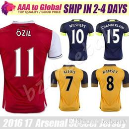 Top quality OZIL jersey 2017 Adult jersey WILSHERE ALEXIS GIBBS WALCOTT CHAMBERS soccer jersey 16 17 football jerseys shirts free shipping