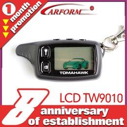 2017 sistema de alarma a distancia un coche Sistema de alarma bidireccional del coche de la alarma del coche de Tomahawk TW9010 del envío-Al por mayor-Libre TWA-9010 sistema de alarma a distancia un coche promoción