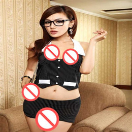 Free shipping secretary OL vest wear uniforms temptation sexy underwear transparent skirt sexy secretary suit fitted within student services