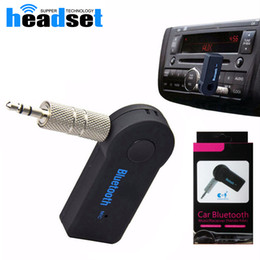 Mains libres universel à vendre-Universal 3.5mm Bluetooth Kit Voiture A2DP Wireless AUX Audio Musique Récepteur Mains Libres avec Mic pour Téléphone MP3 Retail Box