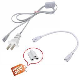 Wholesale Cable de extensión para tubos T8 T5 led pies pies pies pies cables de alimentación de pies con interruptor enchufe de EE UU para luces integradas tubo de luz