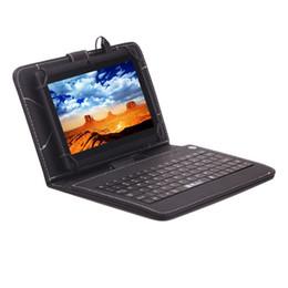 Compra Online Dhl de la tableta de 8 gb-¡DHL-Libre! IRULU 7 pulgadas Q88 ALLwinner A33 Quad Núcleo Tableta PC Wifi Android 4.4 512MB 8GB 1024 * 600 Teclado Dual Bundle Cámara