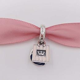 Promotion boutiques de charme Authentique 925 Sterling Silver Beads Shopping Queen Pendant Charm s'adapte au bracelet européen Pandora style bijoux Bracelet 791985FR40