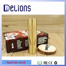 Wholesale Spartan Mod Brass Material Mechanical Mod Vaporizer E Cigarette fit battery Atomizers With locking switch accept sample order
