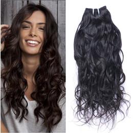 Promotion vague d'eau armure bouclée Vague d'eau de cheveux de la Vierge péruvienne 3 paquets Péruvienne Virgin Wet and Wavy Hair Weave Bundles Peruvian Loose Curly Hair
