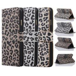 Wholesale Iphone s Leather Case Leopard Print Style Silicone Case For Samsung S6 edge plus Wallet Case For Samsung Note Opp Package
