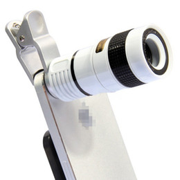 mobile phone universal telescope 8X zoom lens black color for mobile phone smart phones