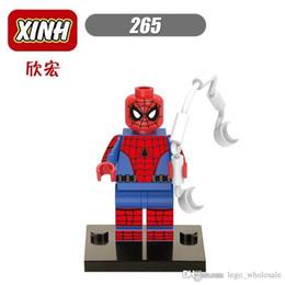 2017 l'action de guerre Super 10pcs Star Wars Super héros Marvel Avengers Spiderman Showcase chiffre action mini Figurines Bâtiments Blocs Brique Jouets l'action de guerre sur la vente
