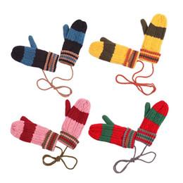 Corée KK Arbre Enfants Mitaines Warm Neck Hung Kid Gants Pour Garçons Filles Cinq Doigts En Hiver à partir de garçons doigt moufle fabricateur