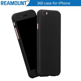 Ultra-thin Hybrid 360 Degree Full Body Coverage Protective Case Cover with Tempered Glass Screen Protector for iphone 7 7plus Case