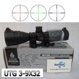 Wholesale Leapers UTG X32 AOCE Con Sun Shade tubo de visión de punto denso con extinción Rifle Scope Riflescope Free Mounts