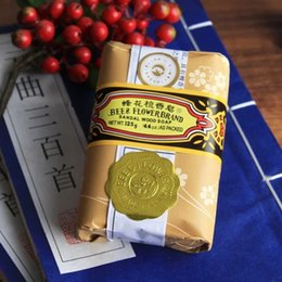 Wholesale 2016 New Health Care Shanghai bee flower sandalwood soap oil control Soap For Face amp Body125g A3
