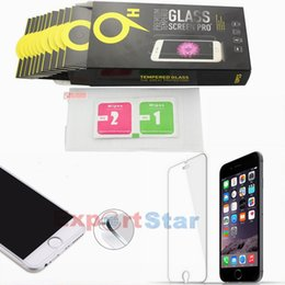 Wholesale For Iphone Samsung s5 With Consumer Pack Tempered Glass Screen Protector For Protect Cell Phone Anti Scratch