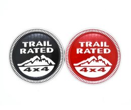 3D trail rated metal car sticker red black Emblem Badge For Jeep Trunk Logo Auto Decal Decoration car styling
