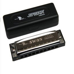 Promotion mini-roches Grossiste-Mini Harmonica Blues 10 Trous Swan Diatonique Harmonica C Orgue de Bouche Classique Harpe Rock Country Folk Jazz