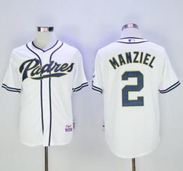 Johnny maillots manziel en Ligne-Maillots Hommes San Diego Padres 2 Maillot de baseball Johnny Manziel Blancs Coolbase Cousu 100% Nom, 4515