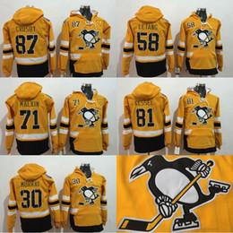 Pittsburgh Penguins Hoodie Hommes 2017 Stade Série 30 Matt Murray 58 Kris Letang 71 Evgeni Malkin 81 Phil Kessel 87 Sidney Crosby Maillots hockey series deals à partir de série de hockey fournisseurs