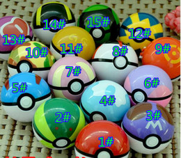 Wholesale 2016 cm pokeball poke ball go figures For Cosplay Plastic Poke Ball Manga Toy for kid DHL Free