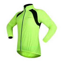 Promotion vélo vélo veste de manteau de pluie WOSAWE vélo vélo de vélo imperméable imperméable manteau Windcoat vélo vert veste Jersey 2017 Vente chaude 2510031