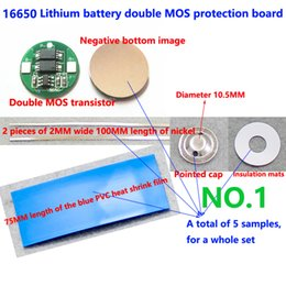 1 set 16650 lithium battery double MOS protective plate 4.2V16650 cylindrical 1 string protective plate working current 4A