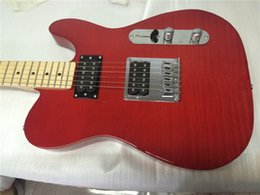 2017 guitarras llama roja Guitarra eléctrica / guitarra TL / color rojo / con la guitarra eléctrica de oem de la parte superior de la llama del arce / la guitarra en China guitarras llama roja en venta