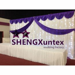 White Wedding Backdrop Curtain Background With LED Lights \ for banquet and party