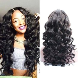Loose Wave Full Lace Wig Human Hair Glueless Lace Front Peruvian Hair Wigs For Black Women 7A High Quality Free Shipping
