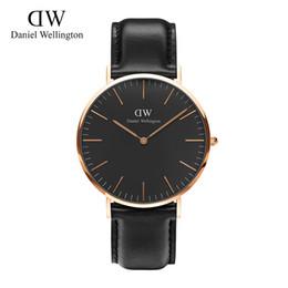 Wholesale Rose Gold Watch Fashion Luxury Brand Watch Style Nylon Strap MM Men Women Wristwatch montre femme