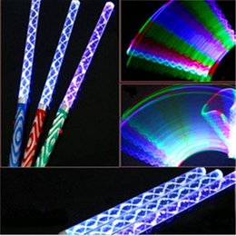 Colorful LED Sticks Electronic Stick Fluorescent Acrylic Rods Wave LED Flashing Glow Stick Halloween Christmas Party Concert LED Cheer Props