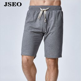Wholesale JSEO Men Comfortable Jersey Casual Short Bamboo Pajama Bottom Shorts Cotton Knit Lounge Wear Solid Sleep Short with Drawstring