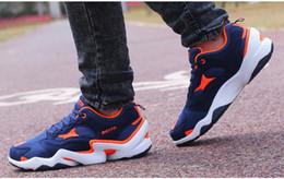Caoutchouc respirante à vendre-Chaussures décontractées Chaussures de sport Chaussures en dentelle pour hommes et femmes Chaussures en caoutchouc Jobon colorées Orange Noir Bleu Vêtements confortables respirants