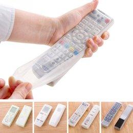 1 pc Sacs de rangement Télécommande Télécommande Housse de protection Protecteur Titulaire Organisateur Accueil Climatisation Contrôle étanche à partir de silicone couvre pour les télécommandes fabricateur