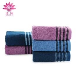 muchun Brand Stripe Satin Towel 6 pcs lot Jacquard Weaving Face Towel 100% Natural Cotton Fabric Soft Washrag