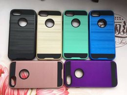 Hybrid Daul Layer Brushed Armor Case COV for IPHONE X 4 5 6 6S PLUS 7 7 8 PLUS Galaxy S8 S8 PLUS S7 S7 EDGE S6 S6 EDGE A5 A7 2017 500PCS YY
