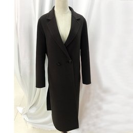 Wholesale 100 Australian wool coat fashion trim long sleeved high quality Customizable jacket