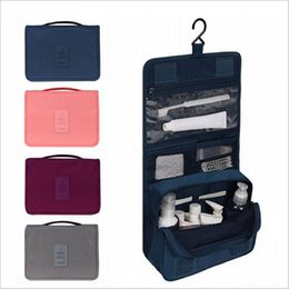 Unisex Portable Waterproof Large Capacity Hook Cosmetic Travel bag Hanging Toiletry Bag Wash Makeup Bags Wholesale and Retail