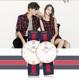 Moda 30m correa de nylon a prueba de agua de estilo 40 / 36mm oro rosa dw reloj de marca de lujo superior Daniel hombres mujeres Wellington relojes relojes desde mujer del estilo de reloj resistente al agua fabricantes
