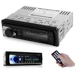 Wholesale 12V Bluetooth V2 USB SD AUX APE MP3 MMC WMA Radio Player Car Electronic Subwoofer vehicle Stereo Audios Single Din FM Receiver car dvd