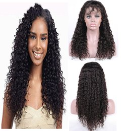 Brazilian Virgin Human Hair Full Lace Wigs Peruvian Malaysian Indian Cambodian Deep Wave Glueless Lace Front Wigs Baby For Black Woman