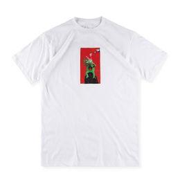 US Size 2017 High Quality SUP x x Mike Hill T-Shirts Men Women 100% Cotton Logo Black Tee Print High Street Skateboards Classic T-shirt