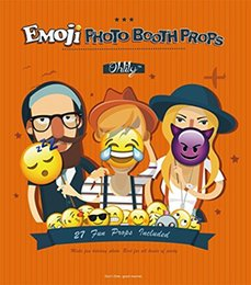 Wholesale Emoji Photo Booth Props Party Favor DIY Kit for Parties with Bamboo Sticks Lighting Studio Equipment Lighting Studio Accessories