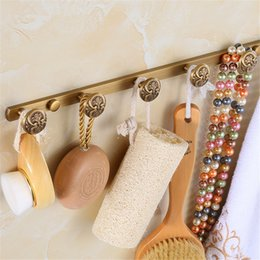 Wholesale Antique Brass WALL DOOR MOUNTED Towel CLOTH HAT HOOK RACK ROBE KEY HANGER HOLDER HANGING HIGH QUALITY