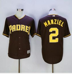 johnny manziel jerseys Promotion New San Diego Padres # 2 Johnny Manziel Maillots de baseball White Brown